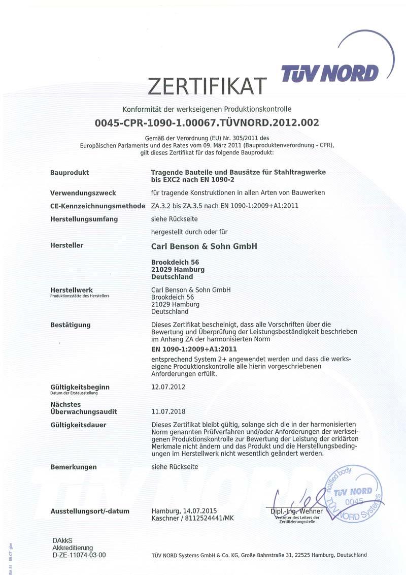 carl-benson-zertifikat-EN-1090-Zertifikat-fuer-Konformitaet-der-werkseigenen-Produktionskontrolle