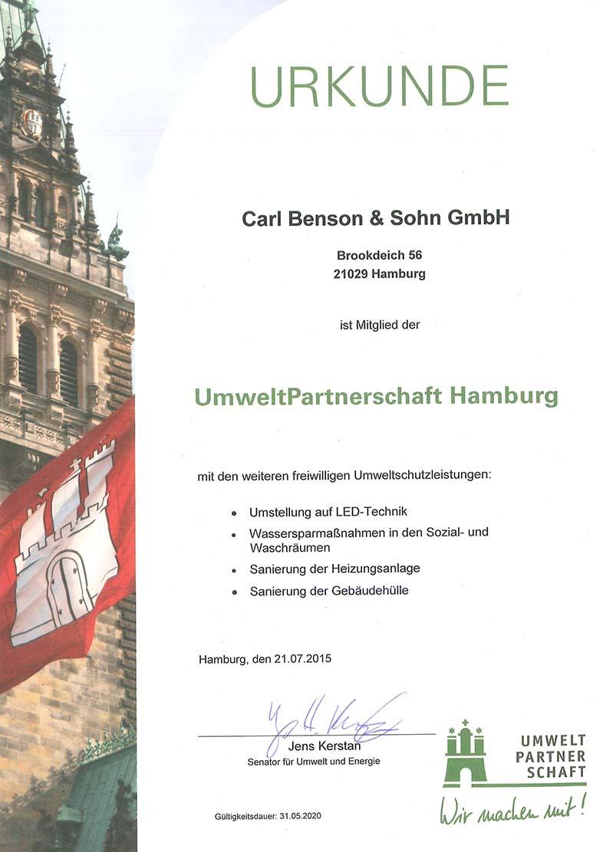 carl-benson-zertifikat-umweltpartner-hamburg
